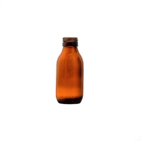 glasflaska medicin brun (100lv) 100 ml