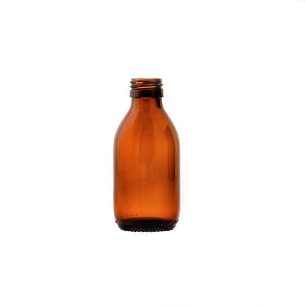 glasflaska medicin brun (150lv) 150 ml
