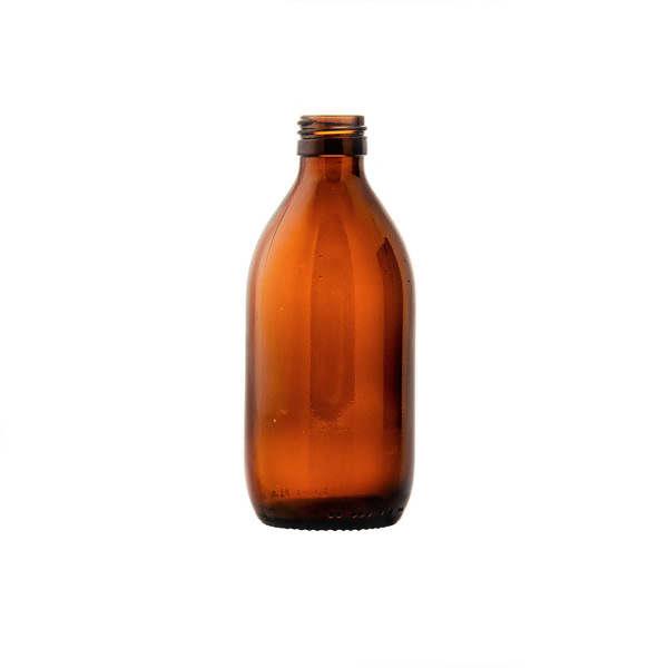glasflaska medicin brun (300lv) 300 ml