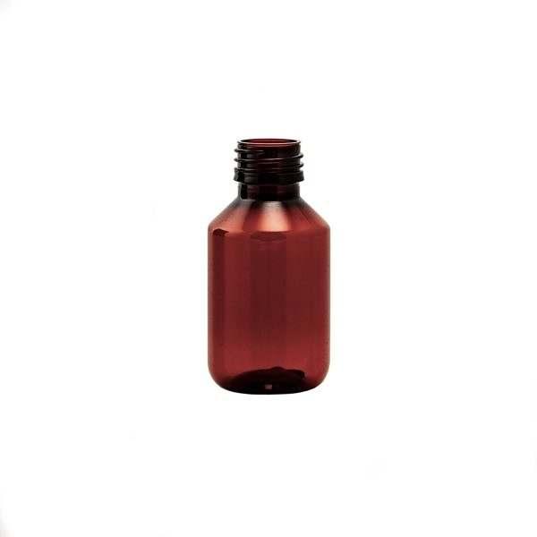 Plastflaska PET Veral Amber Hel Pall 100 ml 5028-0100-0003