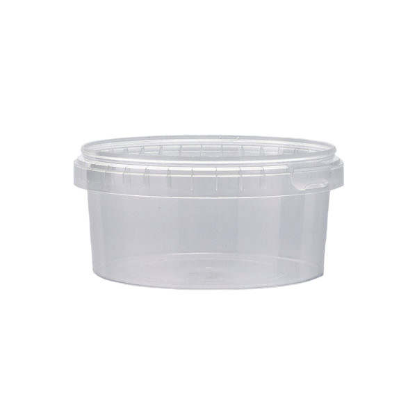 Plastburkar S Unipak 560 ml CLX 5035-19902 vit bakgrund